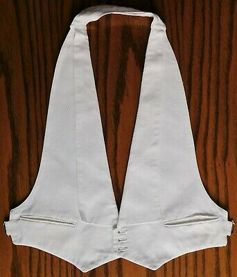 Vintage 30 S White Starched Marcella Austin Reed Waistcoat Size 36 Chest 35 00 Picclick Uk