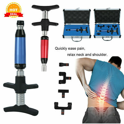 Electric Chiropractic Adjusting Tool Therapy Spine 4 Head Correction Massager A+