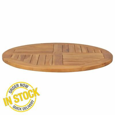 Solid Teak Wooden Round Table Top-Replacement Table  2,5 cm 80 cm