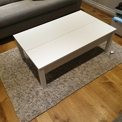Ikea Trulstorp Coffee Table White With Storage Used Excellent Condition 90 00 Pic Uk - White Coffee Table With Storage Ikea