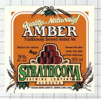 Alberta *NOT A STICKER* 60th 1905 Golden West Beer Label Canadian