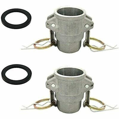 2PCS Aluminum D Cam And Groove Fitting, 1&quot Female Coupler X NPT, With Gasket