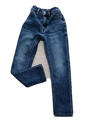 Next Boys Blue Slim Skinny Jeans Size 5 Years Old Elastic Waist 110cm VGC