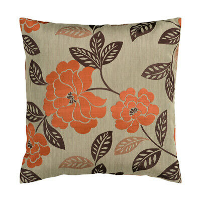 Surya HH053-1818D Blossom 18 X 18 inch Tan/Burnt Orange/Dark Brown Pillow Kit