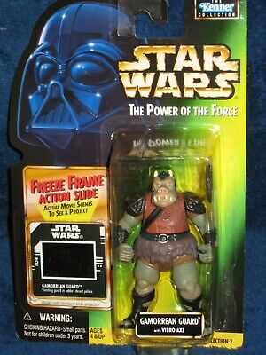 "Kenner Star Wars PotF Lot of 3 Nien Nunb Gamorrean Garindan 3.75/"" Figures NIP"