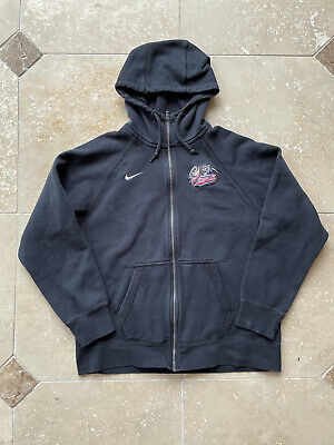 Nike Sacramento River Cats Full Zip Black Hoodie Sweater Size Large