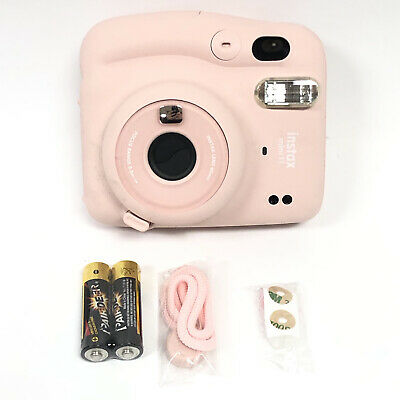 FUJIFILM Blush Pink Instax Mini 11 Instant Camera New One Touch Selfie Mode