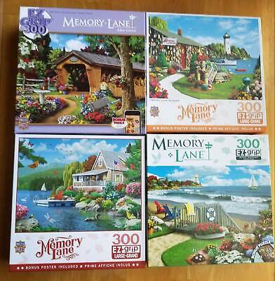 5* 100 300 250 PUZZLES Lot Of five 240 and 500 Pieces-  FREE SOLAR!!