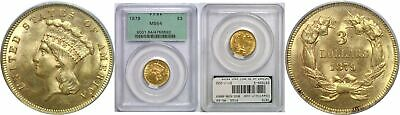 1879 $3 Gold Coin PCGS MS-64