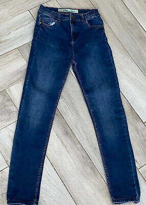 Boys Blue Primark Skinny Jeans Size Age 11 - 12 Years