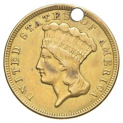 1856 $3.00 Indian Princess Head Gold Three Dollars *0412