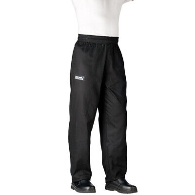 Chefwear Traditional Chef's Pants - Black - Extra Large