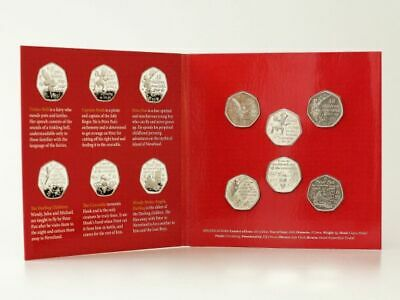2019 Isle of Man Official Government Peter Pan 50p coin set