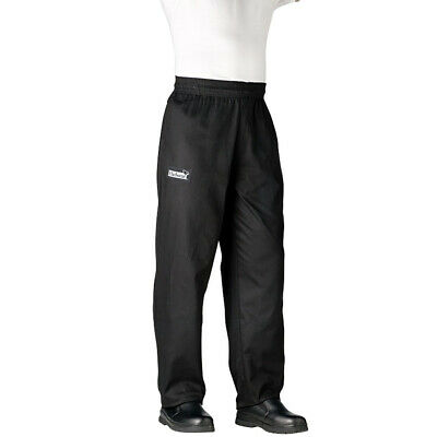 Chefwear Traditional Chef's Pants - Black - XX Large