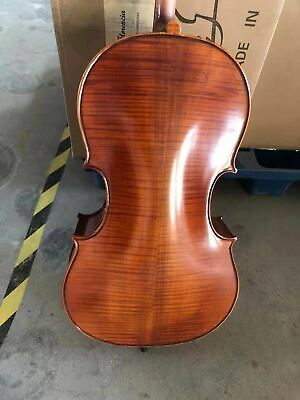 Hand carved solid wood cello 1/4 ,flame maple back &ribs&neck, spruce top