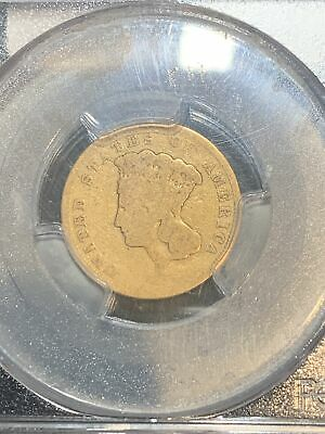 1855 S $3 Gold Indian Princess Three Dollar Coin- Rare  PCGS G04