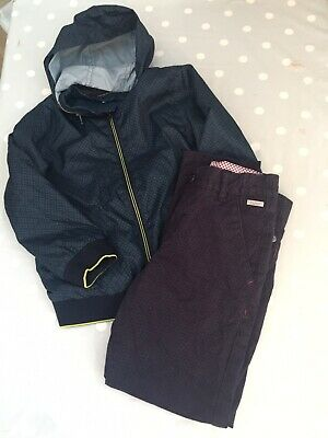 Boys Ted Baker Outfit Trousers And Coat Age 5-6