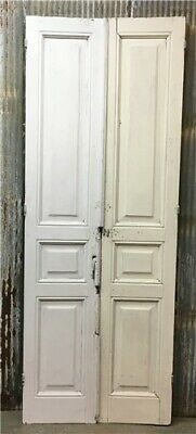 Tall Pair Antique French Double Doors, Raised Panel Doors, Sliding Barn Doors d