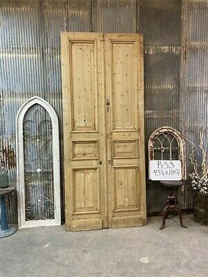 Thick Molding, Antique French Double Doors, European Doors, Tall Pair B33