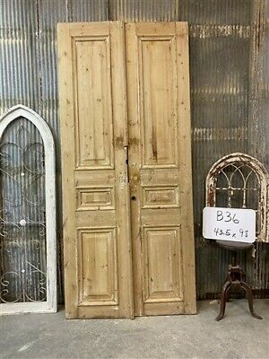 Thick Molding, Antique French Double Doors, European Doors, Tall Pair B36