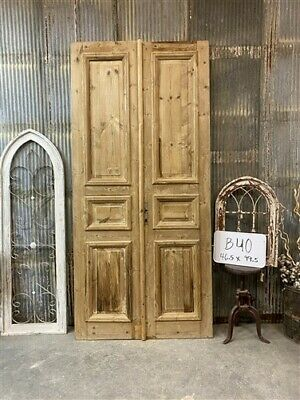 Thick Molding, Antique French Double Doors, European Doors, Tall Pair B40