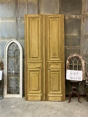 Thick Molding, Antique French Double Doors, European Doors, Tall Pair B44