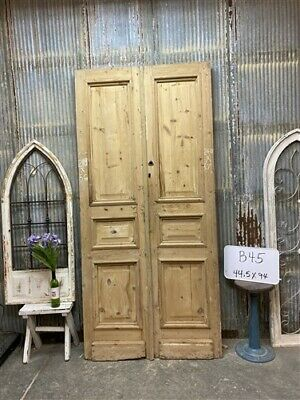 Thick Molding, Antique French Double Doors, European Doors, Tall Pair B45