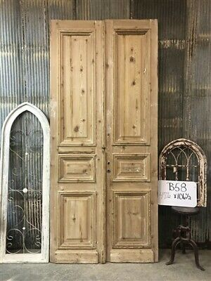 Thick Molding, Antique French Double Doors, European Doors, Tall Pair B58