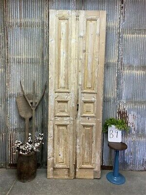 Thick Molding, Antique French Double Doors, European Doors, Tall Pair B9