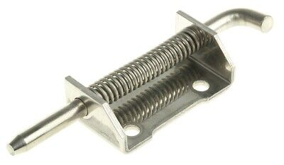 2 x Pinet Raw Stainless Steel Concealed, Spring-Action Hinge Bolt-on, 82mm x 21m
