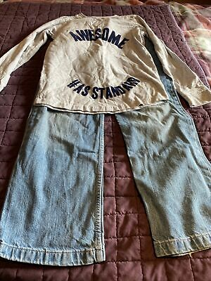 D) Boys George Blue Jeans & Next Grey Top Set  Age 11