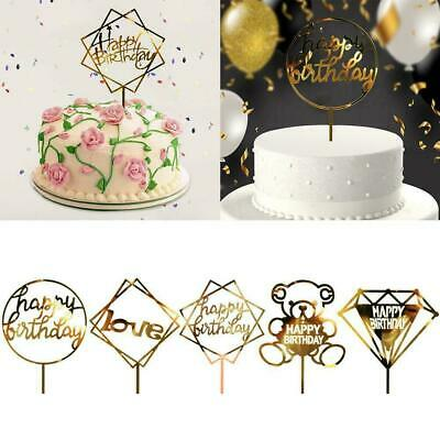 FIVE Happy Birthday Pick Cake Candles Set For Boy Girl 5th Party Multicolour Age