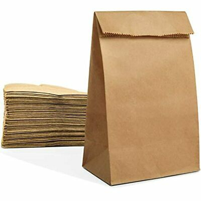 200 Paper Lunch Sandwich Bags, 4 Lb Capacity Kraft Disposable Grocery Brown &amp