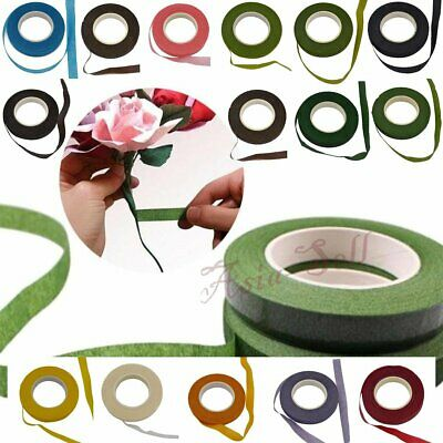 30m 12mm Bouquet Floral Stem Stretchy Tape Flower Stamen Wrapping Florist Green
