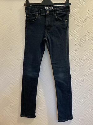 H&M Dark Blue stretch skinny jeans boys age 11-12 Years Excellent Adjustable