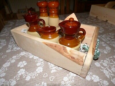 Table Set Condiments Handmade for Mothers day