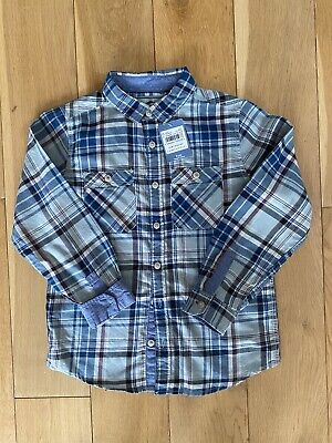 Boys TU Check Blue Short Brand New With Tags Age 9 Years
