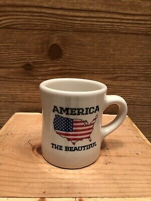 Waffle House 2012 America the Beautiful Coffee Mug Cup Heavy Tuxton, NWOT