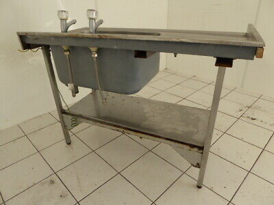 "Commercial stainless steel single bowl sink heavy duty 47""x 24"" x 34"""