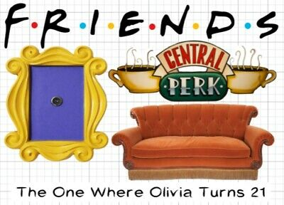 Friends Cake Topper Personalised Round Edible Icing Cake Decoration Central Perk 5 99 Picclick Uk