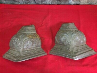 2 Ceiling Tin Corner Tiles, Architectural Salvage Reclaimed Molding Vintage H,