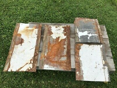 4 Ceiling Tin Panels, Vintage Reclaimed Molding, Architectural Salvage A8,