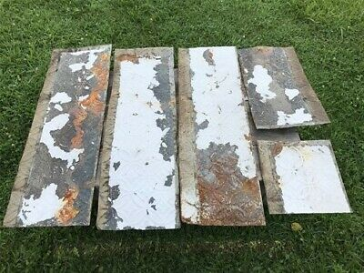 5 Ceiling Tin Panels, Vintage Reclaimed Molding, Architectural Salvage A6,