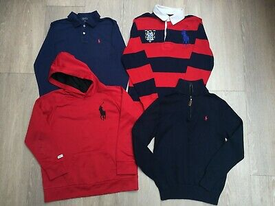 BOYS Ralph Lauren POLO NAVY RED CLOTHES BUNDLE, AGE 10-12 YEARS