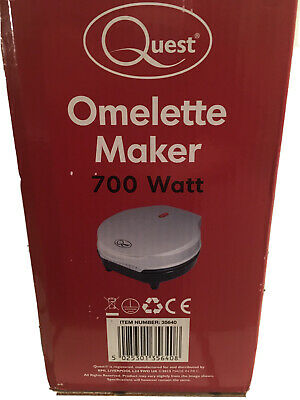 Quest 700W Dual Omelette Maker Electric - Easy Clean Non-Stick Cooking Plate