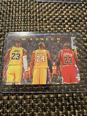 kobe bryant michael jordan lebron james Immaculate Icons Card