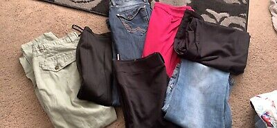 Bundle Of Ladies Skirts, Shorts Trousers Size 8 Seven Items