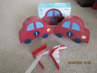 Set Mothercare Car Book Ends New