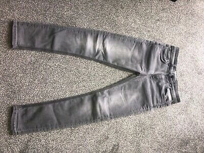 Grey stretch skinny fit matalan jeans age 11
