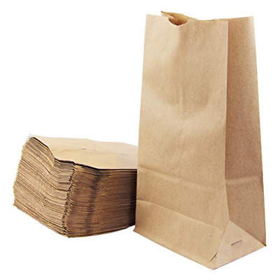 "[200 Pack] Kraft Paper Bags 11 x 6 x 3.5"" 6 LB Grocery Lunch Retail Shopping"